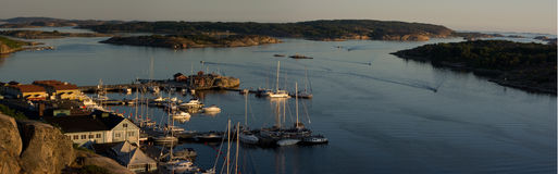 Panorama van Grebbestad Royalty-vrije Stock Afbeelding