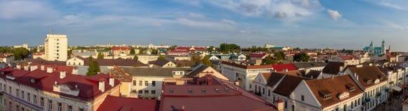 Panorama van Grodno met een mening stock afbeeldingen