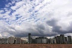 panorama van grote moderne stedelijke woonwijken royalty-vrije stock fotografie