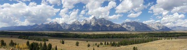 Panorama van Grote Tetons royalty-vrije stock afbeeldingen