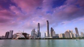 Panorama van Guangzhou, Haixinsha royalty-vrije stock afbeelding