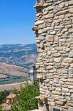 Panorama van Guardia Perticara Basilicata Italië Stock Afbeelding