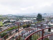 Panorama van Guilin-stad in de lente royalty-vrije stock afbeeldingen