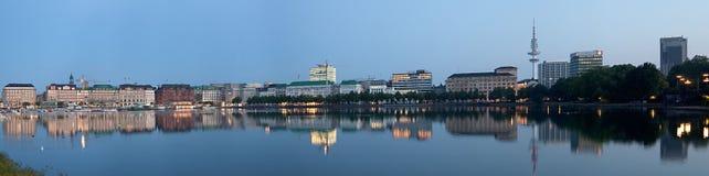 Panorama van Hamburg Stock Foto's