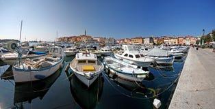 Panorama van haven Rovinj Royalty-vrije Stock Foto