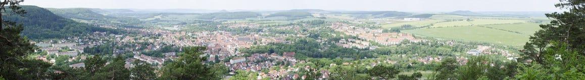 Panorama van Heilbad Heiligenstadt royalty-vrije stock afbeelding