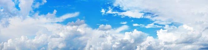 Panorama van hemel Stock Afbeeldingen