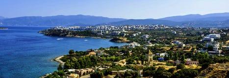 Panorama van Heraklion - Chania, Kreta, Griekenland royalty-vrije stock afbeeldingen