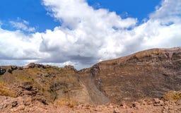 Panorama van het de vulkaan het Nationale park van de Vesuvius bij zonnige dag Stock Foto's