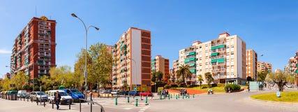 Panorama van het district van La Salut van Badalona. Barcelona Stock Afbeeldingen