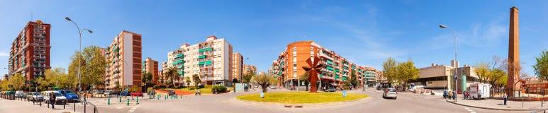 Panorama van het district van La Salut van Badalona. Catalonië Royalty-vrije Stock Afbeeldingen