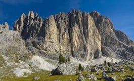 Panorama van het dolomiet van alpen royalty-vrije stock foto's