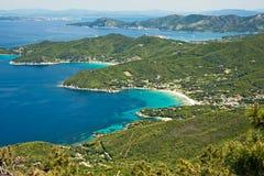 Panorama van het eiland van Elba. Stock Foto's