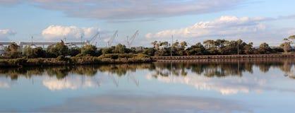 Panorama van het Estuarium Leschenault in Bunbury Royalty-vrije Stock Foto's