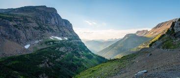 Panorama van het gletsjer het Nationale Park Stock Afbeeldingen