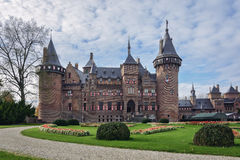 Panorama van het kasteel Stock Fotografie