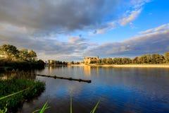 Panorama van het Kasteel van Schwerin Royalty-vrije Stock Foto's