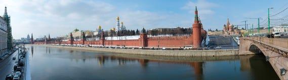Panorama van het Kremlin in Moskou Royalty-vrije Stock Afbeeldingen