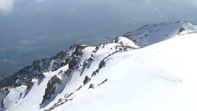 Panorama van het Landschap van de Sneeuwbergketen stock video