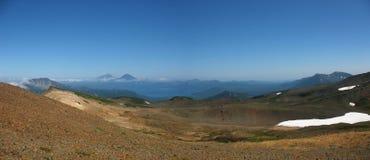 Panorama van het landschap van Kamchatka (Rusland) Royalty-vrije Stock Afbeeldingen
