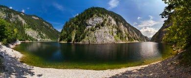 Panorama van het meer Stock Foto