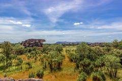 panorama van het Nadab-Vooruitzicht in ubirr, kakadu nationaal park - Australi? royalty-vrije stock afbeelding