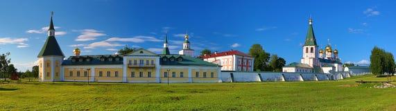 Panorama van het orthodoxe klooster Royalty-vrije Stock Foto's
