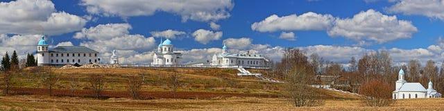 Panorama van het orthodoxe klooster in Tervenich Stock Foto