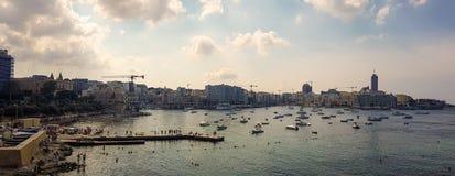 Panorama van het overzees in Malta royalty-vrije stock foto