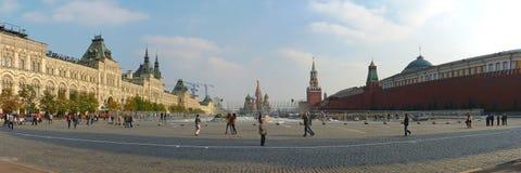 Panorama van het Rode Vierkant in Moskou Stock Foto