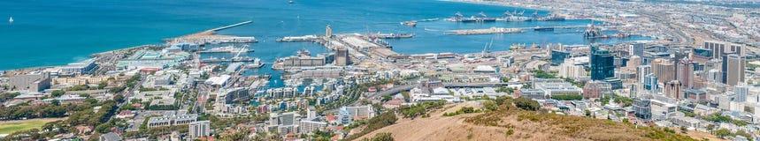 Panorama van het stadscentrum in Cape Town, Zuid-Afrika Stock Foto