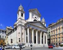 Panorama van het stadscentrum van Genua, kapitaal van Ligurië p stock fotografie