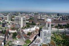 Panorama van het stadscentrum van Essen Stock Foto's