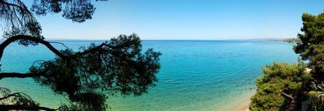 Panorama van het strand Stock Afbeelding