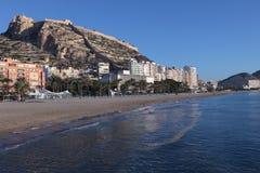 Strand van Alicante, Spanje Stock Foto's