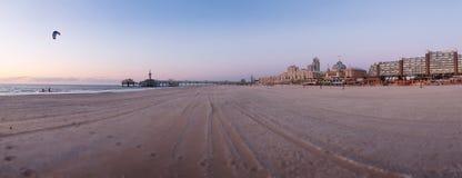Panorama van het strandkust van Den Haag Royalty-vrije Stock Fotografie