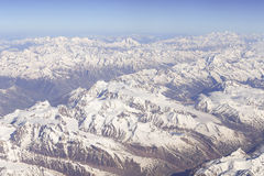 Panorama van Himalayagebergte stock foto's