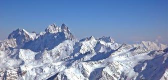 Panorama van hoge berg Stock Foto