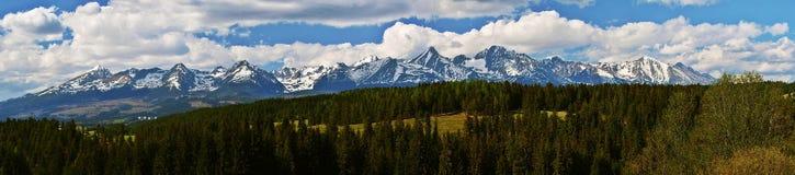 Panorama van Hoge Tatras royalty-vrije stock foto