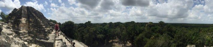 Panorama van hoge tempel Stock Foto's