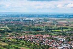 Panorama van Hogere Rijn-Vlakte Stock Fotografie