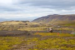 Panorama van Ijslandse bergen Royalty-vrije Stock Fotografie