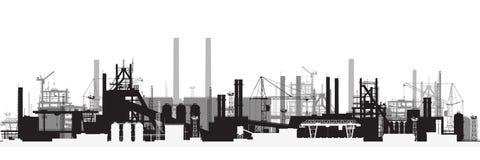 Panorama van industrieel landschap Stock Foto