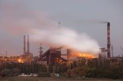 Panorama van industrieel landschap Stock Afbeelding