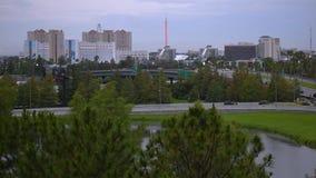 Panorama van Internationale Aandrijving en Universele Boulevard van Citywalk-parkeren