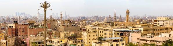 Panorama van Islamitisch Kaïro stock afbeeldingen