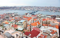 Panorama van Istanboel Stock Foto's