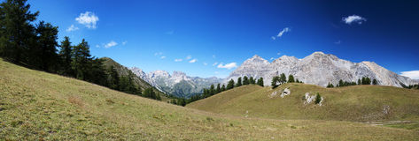 Panorama van Italiaanse Alpen Royalty-vrije Stock Foto