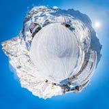panorama 360 van Italiaanse Alpen Royalty-vrije Stock Afbeelding