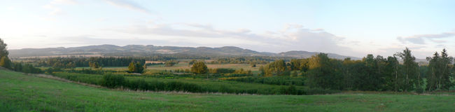Panorama van Jelenia Gora Royalty-vrije Stock Foto